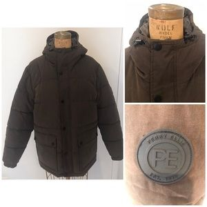 Perry Ellis Mens Quilted Puffer